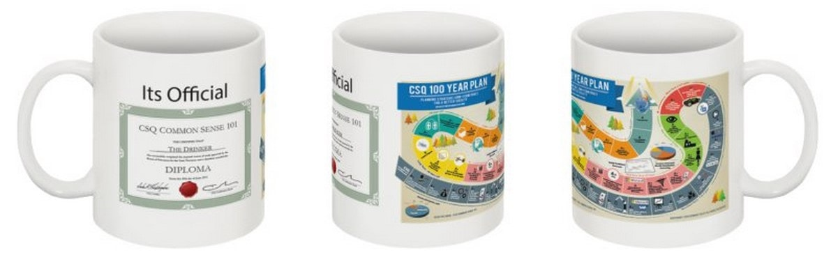 CSQ Research 100-Year Plan Mugs