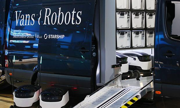Automated Home Delivery Vans and Drones