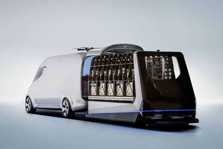 Mercedes-Benz Vision Van – Interior, One-Shot Loading